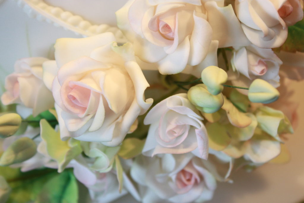 Photograph showing hand crafted sugar flowers
