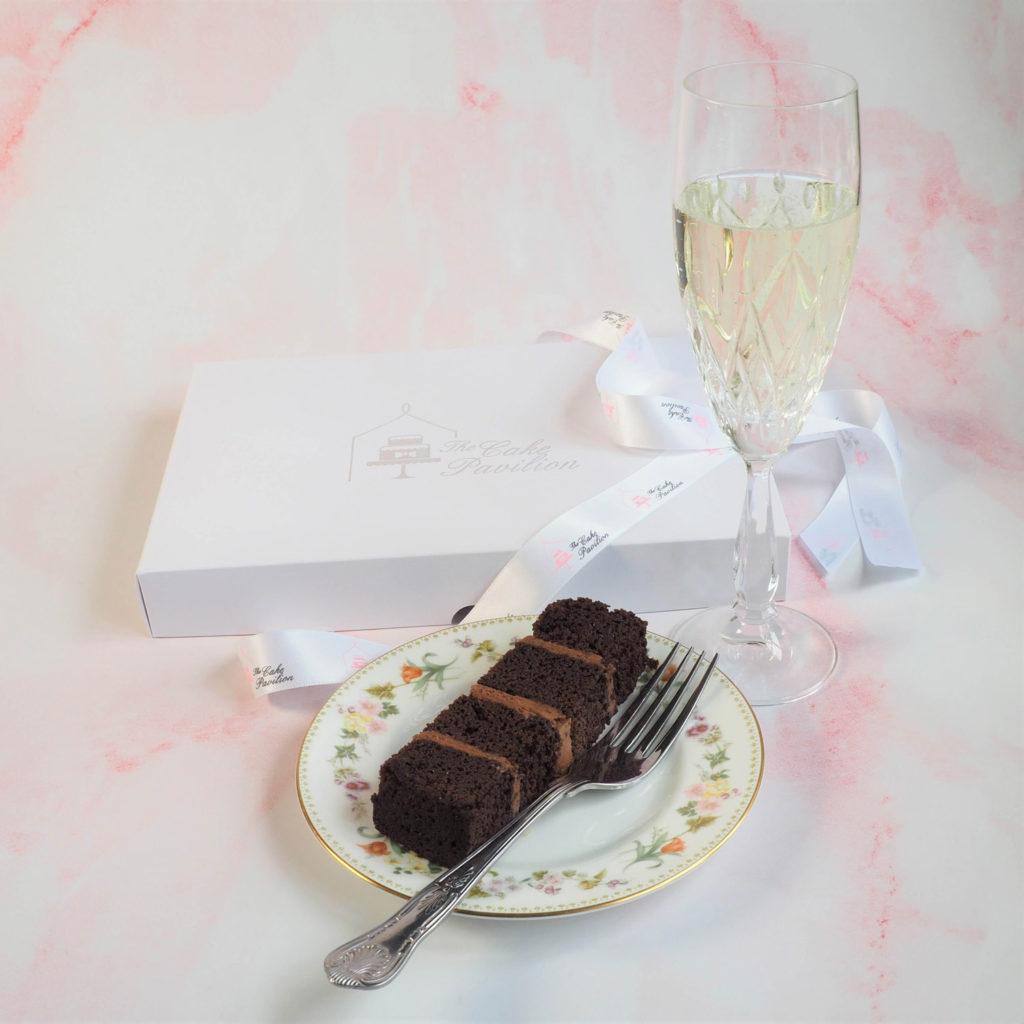 Chocolate mud cake cake slice at The Cake Pavilion