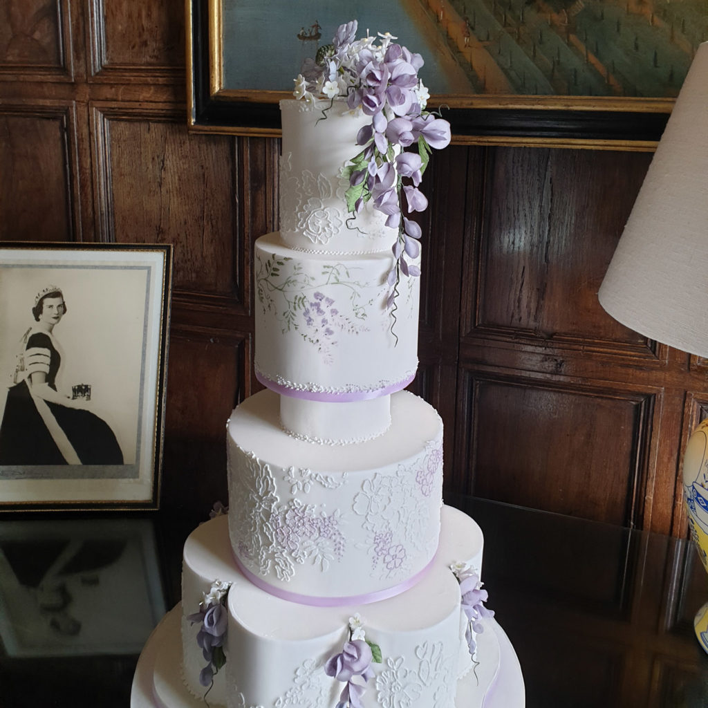 Wisteria sugar flower topper