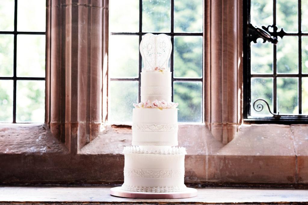 Petite royal iced wedding cake