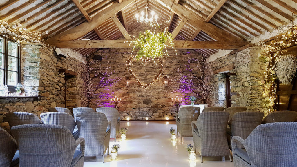 Photo of the luxurious wedding barn at Cote How