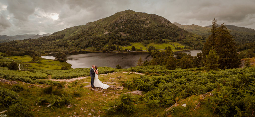 Lake District wedding venue looking at the views